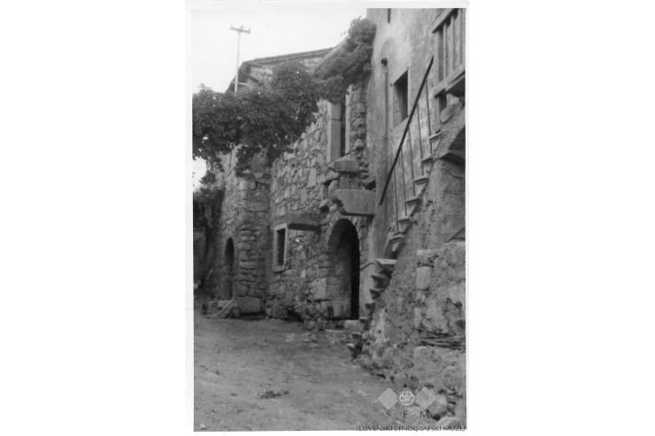 Posenetek najstarejše ulice Štanjela (1947)