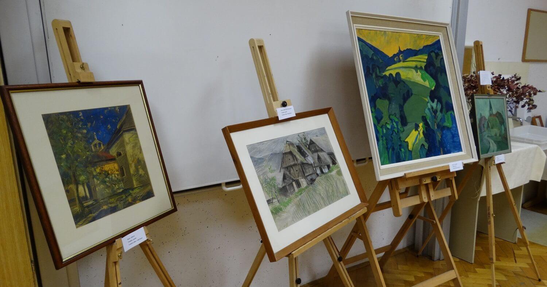 Razstava del slikarja Jožeta Megliča