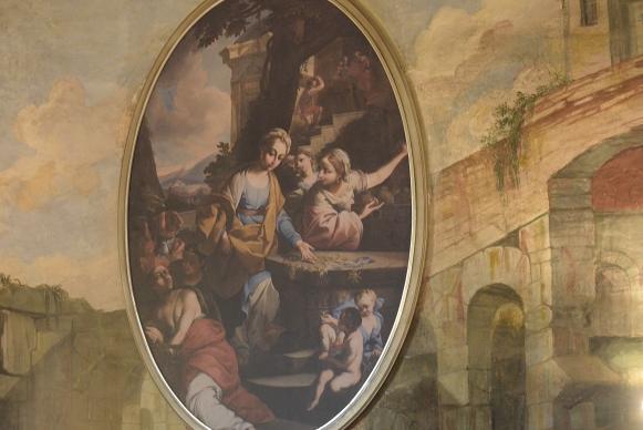Namestitev kopij slik Frančiška Karla Remba v Viteško dvorano gradu Brežice