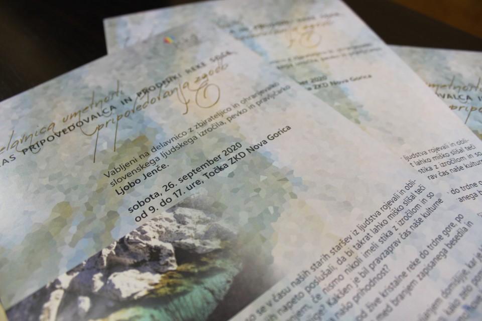 Glas pripovedovalca in prodniki reke Soče - Delavnica umetnosti pripovedovanja zgodb z Ljobo Jenče v Novi Gorici