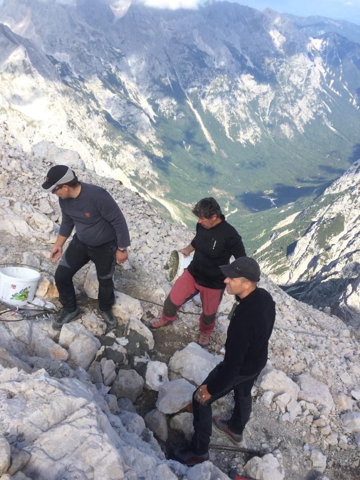 Priprava sidra za jeklenico (foto:Gorazd Lemajič)
