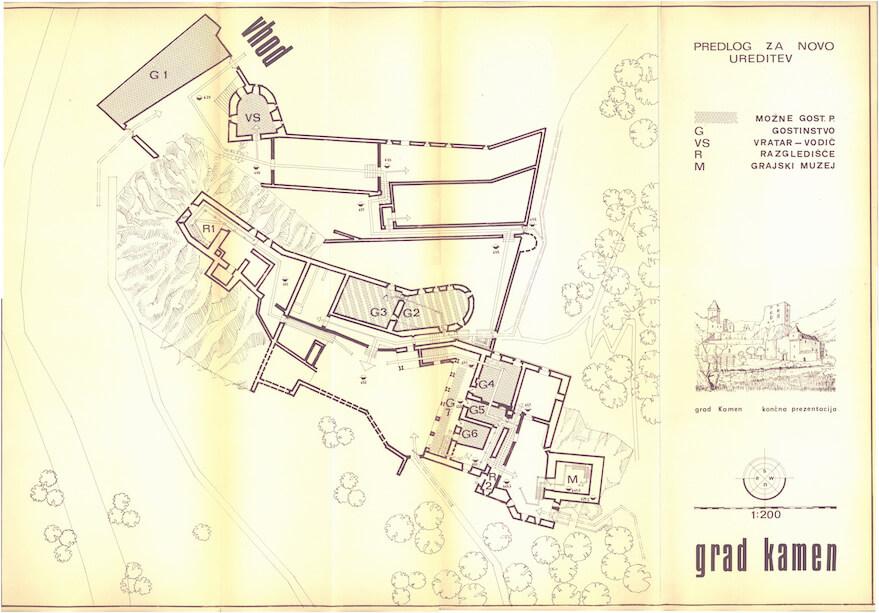 Peter Fister, predlog za končno  ureditev in revitalizacijo gradu Kamen v Begunjah na Gorenjskem