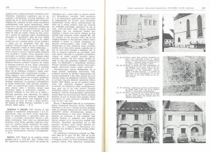 Peter Fister, eden izmed številnih prispevkov v publikaciji  Varstvo spomenikov