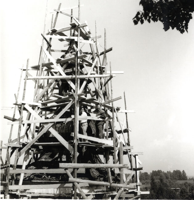 Peter Fister na terenu, Bodešče pri Bledu leta 1973