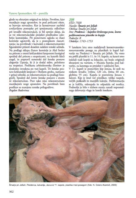 Predenca – kapelice križevega pota, lesene polihromirane plastike in kopije: Šmarje pri Jelšah