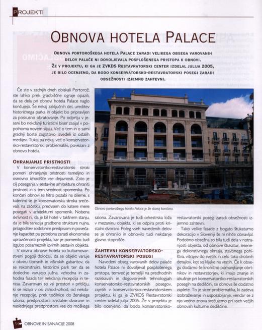 Obnova hotela Palace