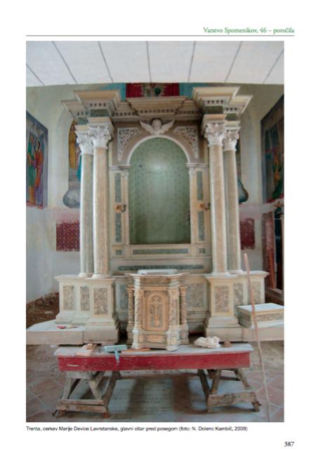Trenta – cerkev Marije Device Lavretanske, glavni oltar